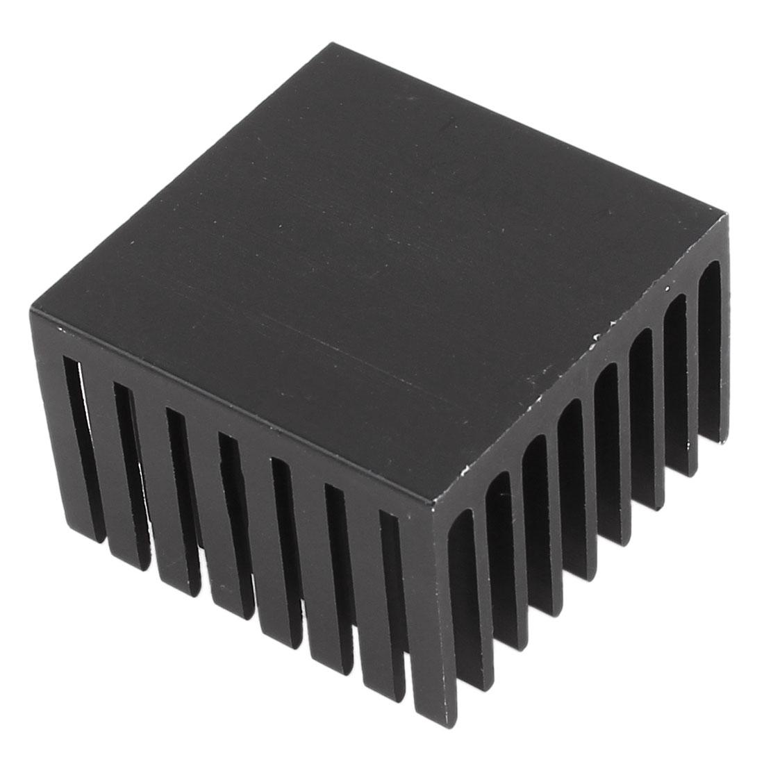 Black Aluminum Radiator Heat Sink Heatsink 37mm x 37mm x 24mm