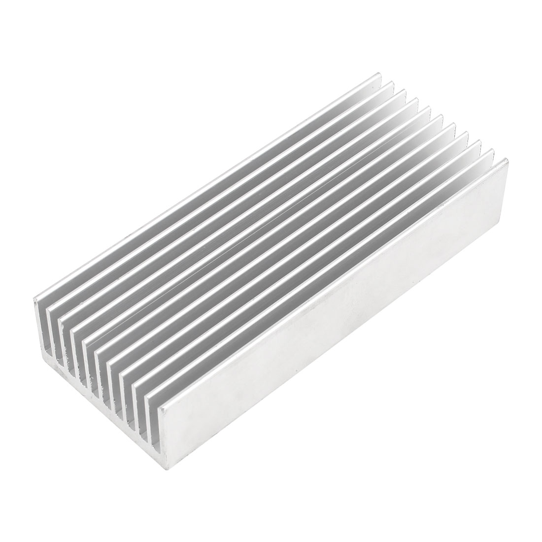 Silver Tone Aluminum Cooler Radiator Heat Sink Heatsink 100mm x 40mm x 20mm