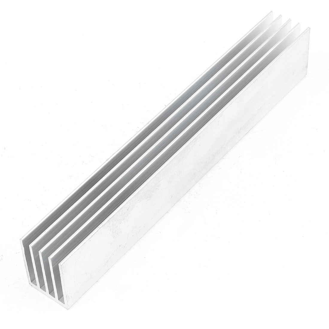 Silver Tone Aluminum Cooler Radiator Heat Sink Heatsink 150mm x 25mm x 19mm