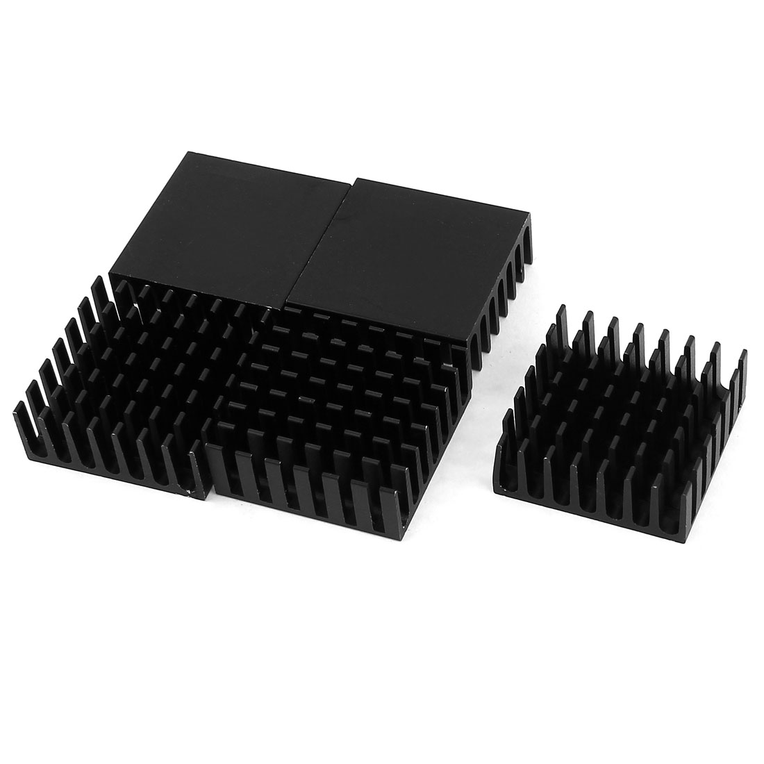 5 Pcs Black Aluminum Cooler Radiator Heat Sink Heatsink 28mm x 28mm x11mm