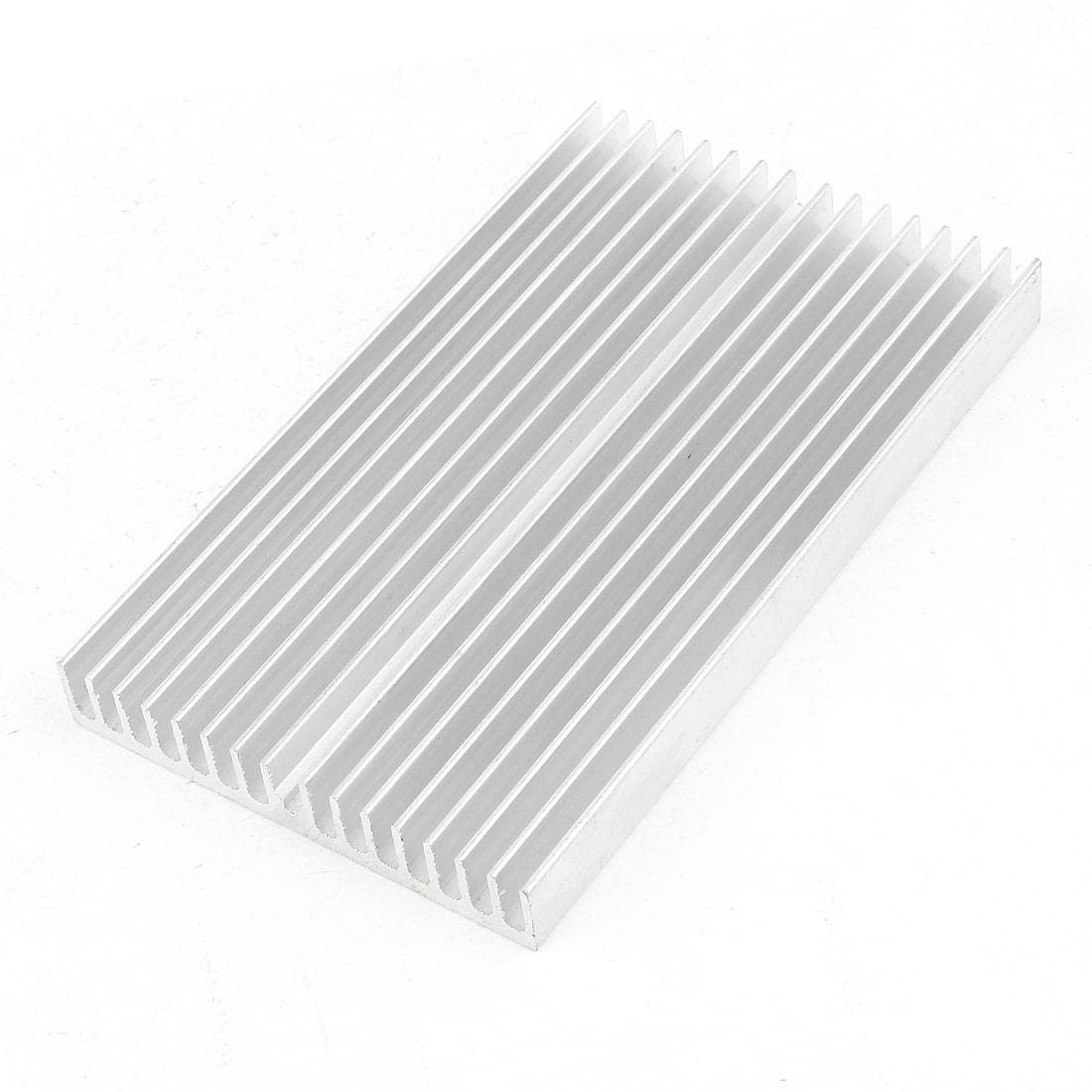 Silver Tone Aluminum Cooler Radiator Heat Sink Heatsink 100mm x 60mm x 10mm