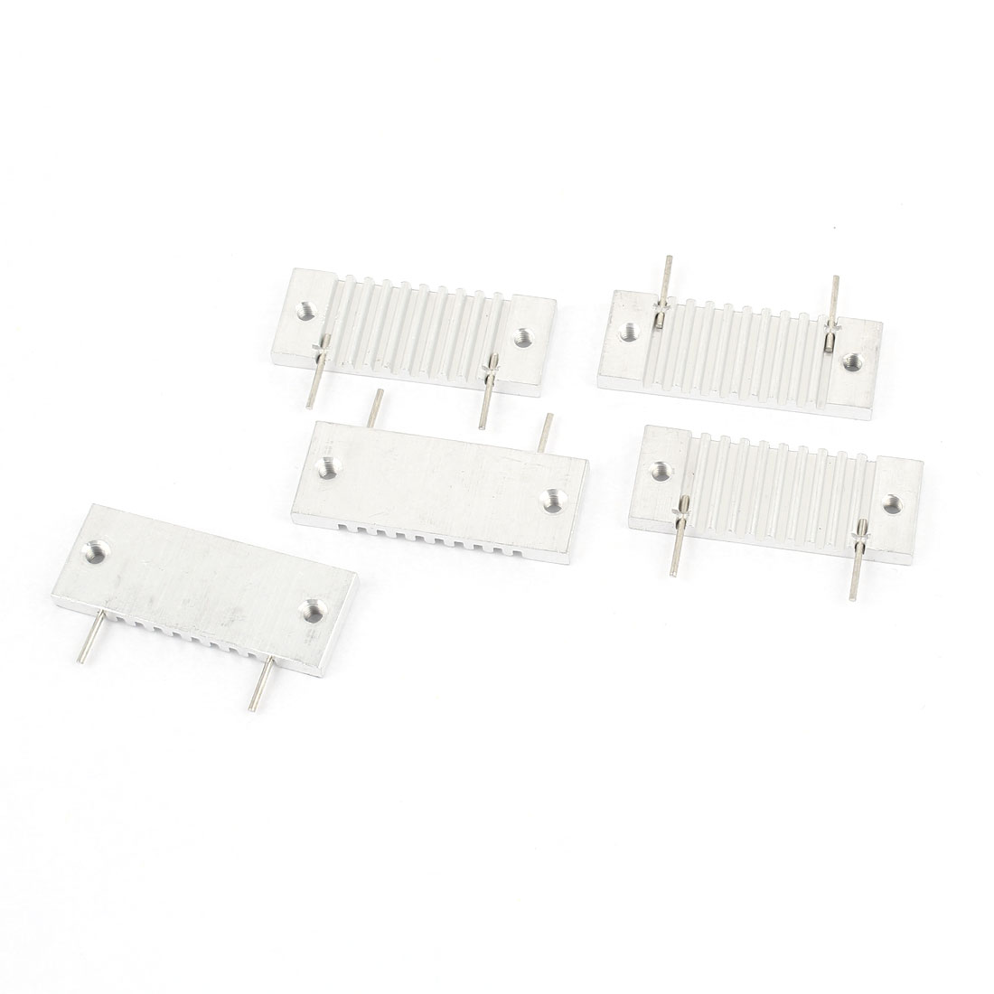 5 Pcs Silver Tone Aluminum Radiator Heat Sink Heatsink 37x14x3mm