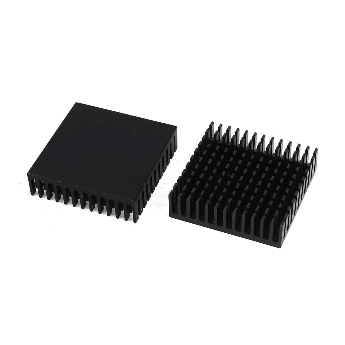 2 Pcs Black Aluminum Radiator Heat Sink Heatsink 40mm x 40mm x 11mm