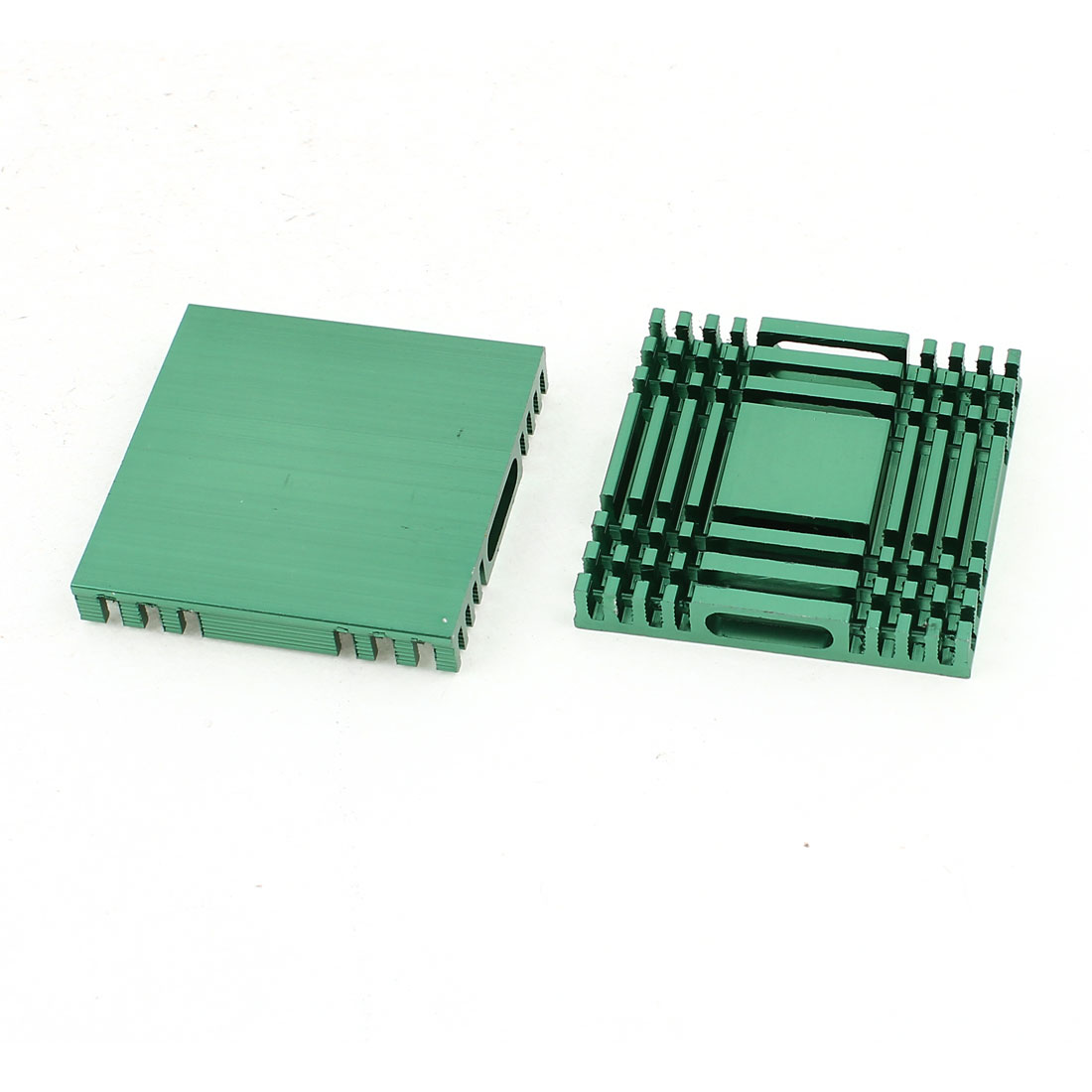 2 Pcs Green Aluminum Heat Sink 37x37x6mm for Computer PC Chipset