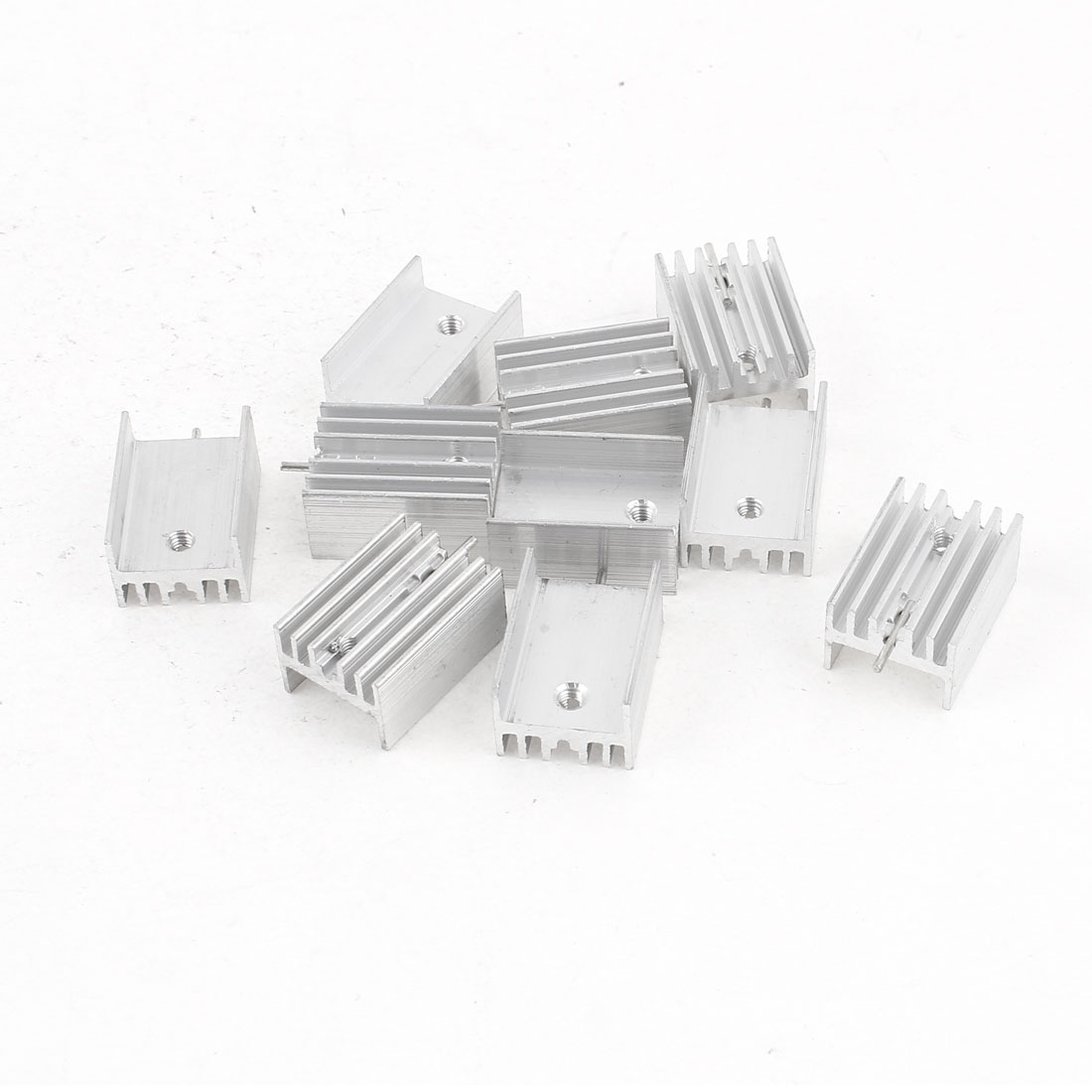10 Pcs 21x15x10mm Aluminum Heat Sink for TO-220 Mosfet Transistors