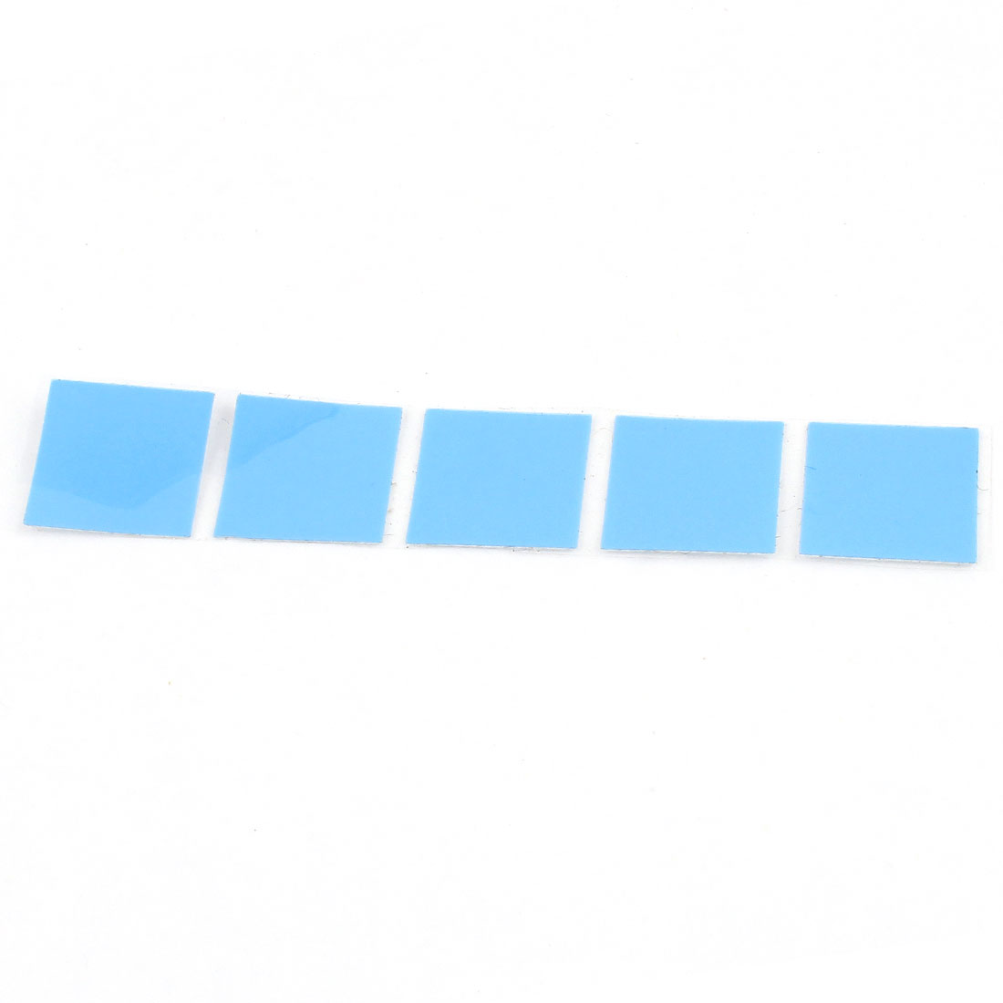 5 Pcs Thermal Conductive Heatsink Mount Stickers Blue 14x14mm