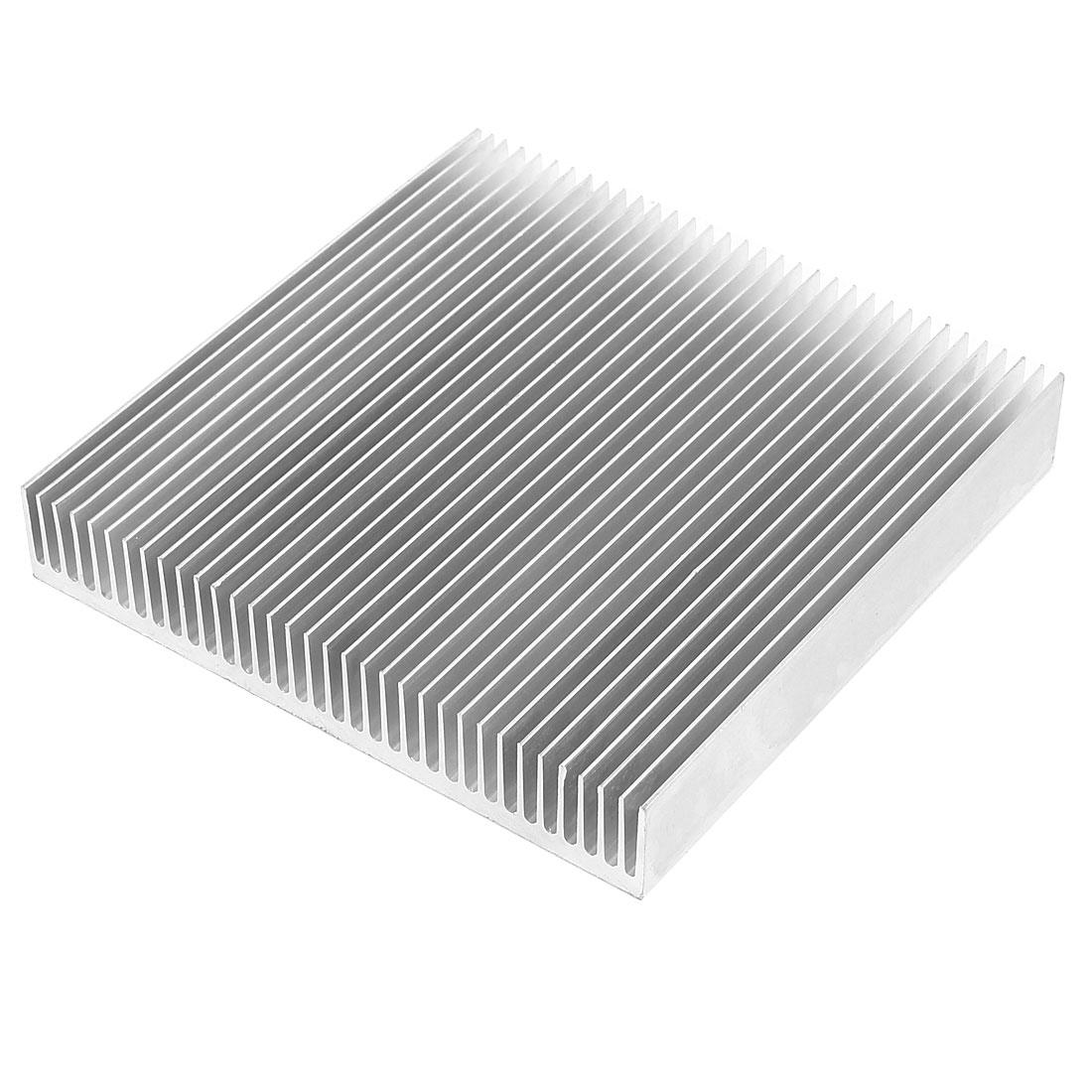 Silver Tone Aluminum Cooler Radiator Heat Sink Heatsink 90mm x 90mm x 15mm