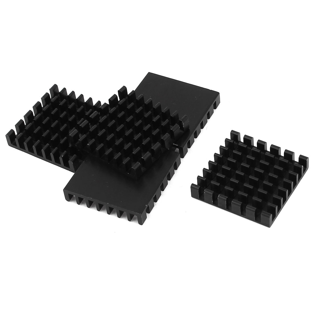 5 Pcs Black Aluminum Cooler Radiator Heat Sink Heatsink 25mm x 25mm x 5mm