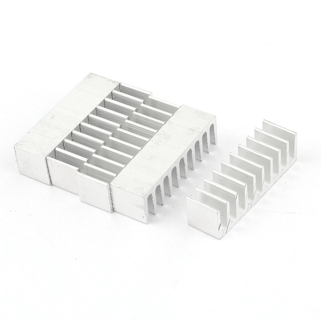 5 Pcs Silver Tone Aluminum Cooler Radiator Heat Sink Heatsink 35mm x 10mm x 10mm