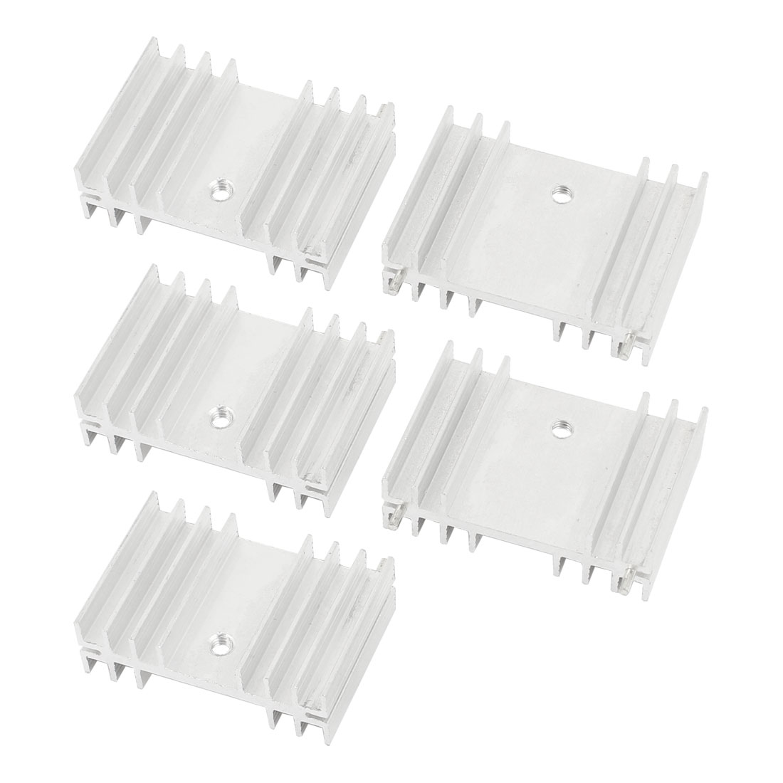 5 Pcs Silver Tone Aluminum Heat Sink 36x25x11mm for MOSFET Transistors