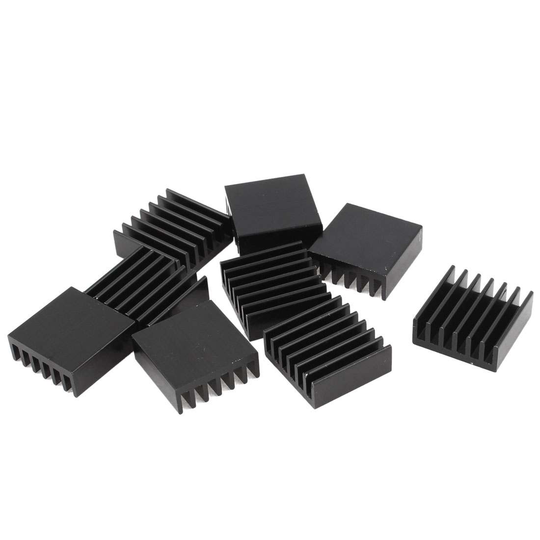 10 Pcs Black Aluminum Radiator Heat Sink Heatsink 14mm x 14mm x 6mm