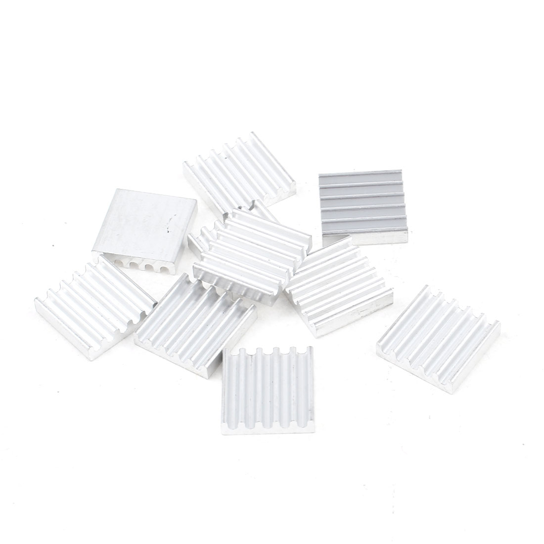 10 Pcs Silver Tone Aluminum Radiator Heat Sink Heatsink 13mm x 13mm x 3mm