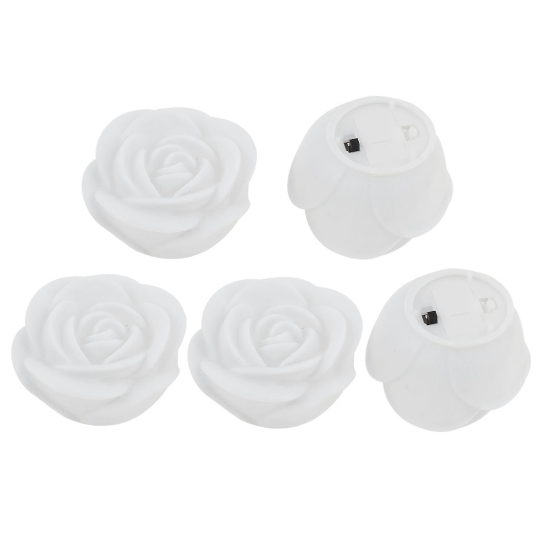 Home Bedroom Decor Color Changing Rose Lamps Desk Night Light 5 Pcs