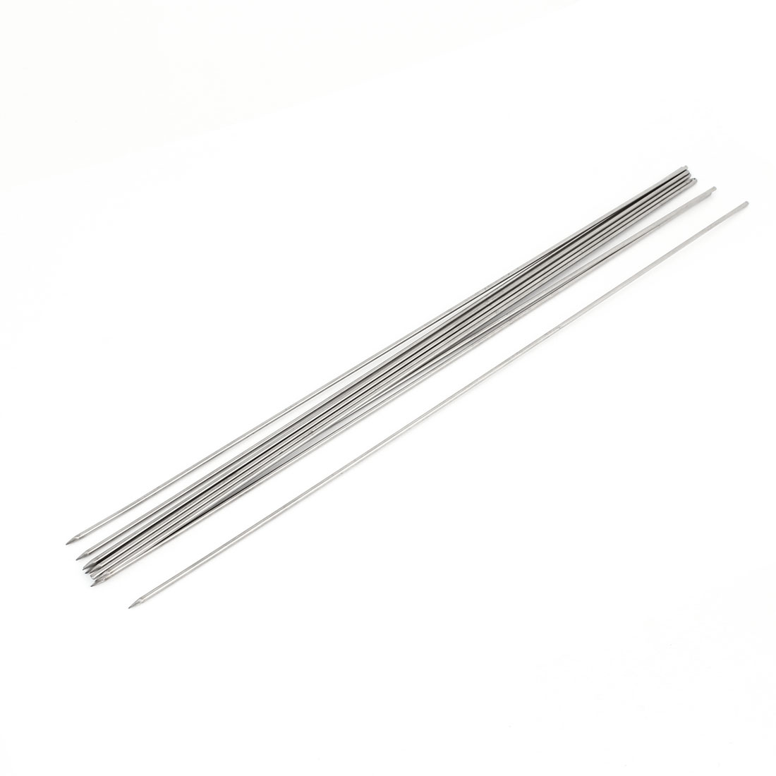Outdoor 34cm Silver Tone Metal BBQ Needle Barbecue Skewers Sticks 10 Pcs