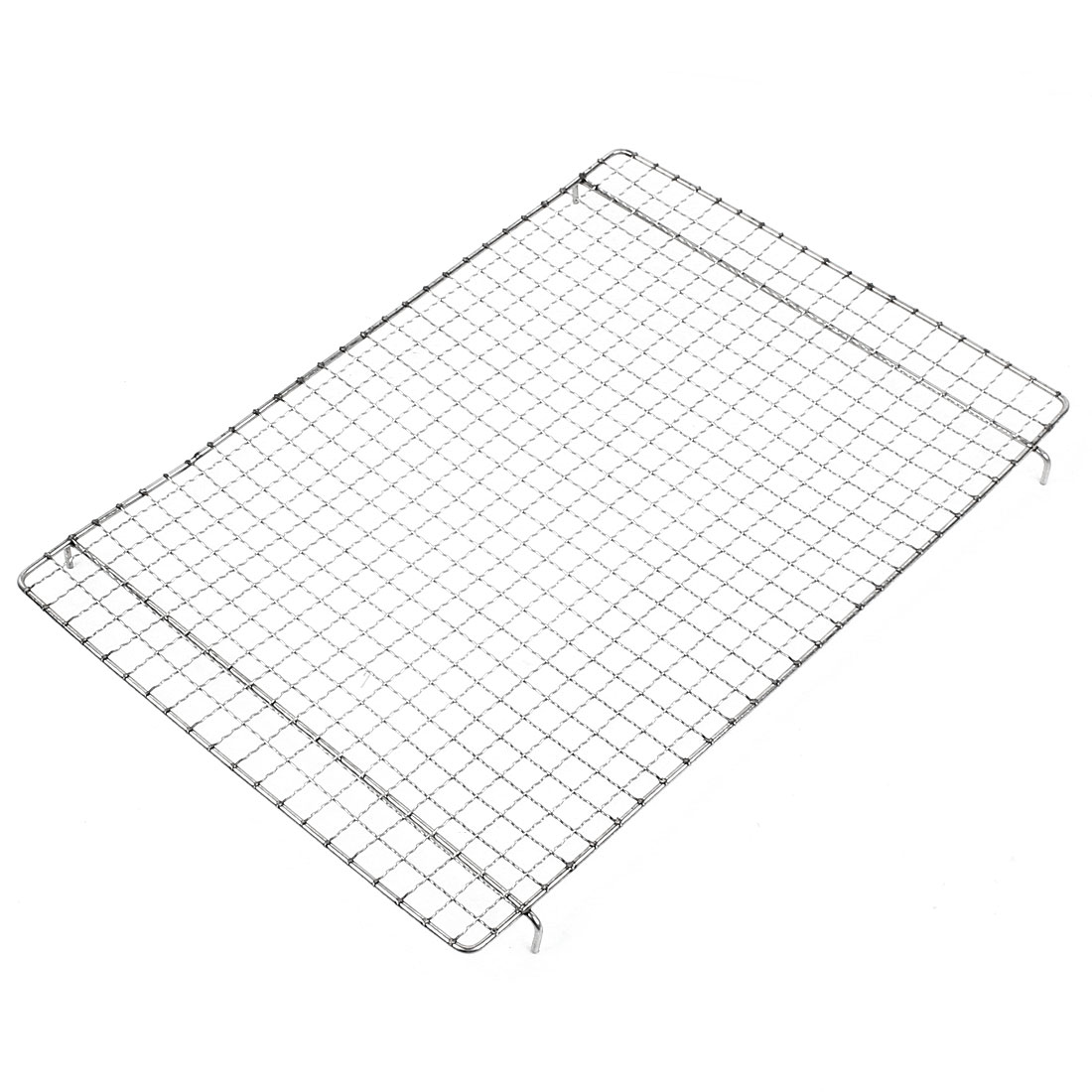Outdoor Rectangle Metal Barbecue Grill Ware Netting Shelf 40cm x 28cm