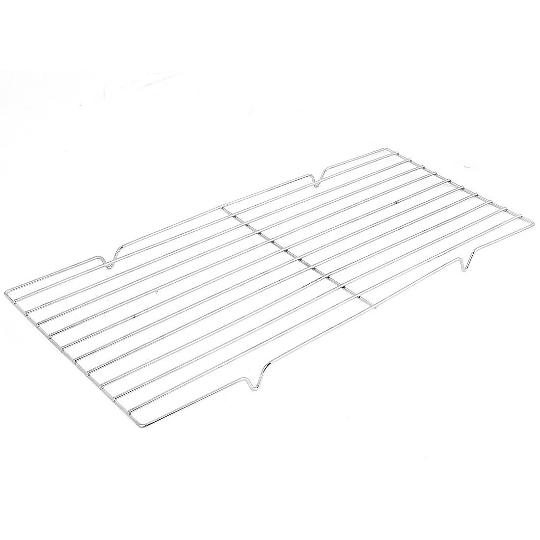 Outdoor Rectangle Metal Barbecue Grill Ware Netting Shelf 49cm x 22cm
