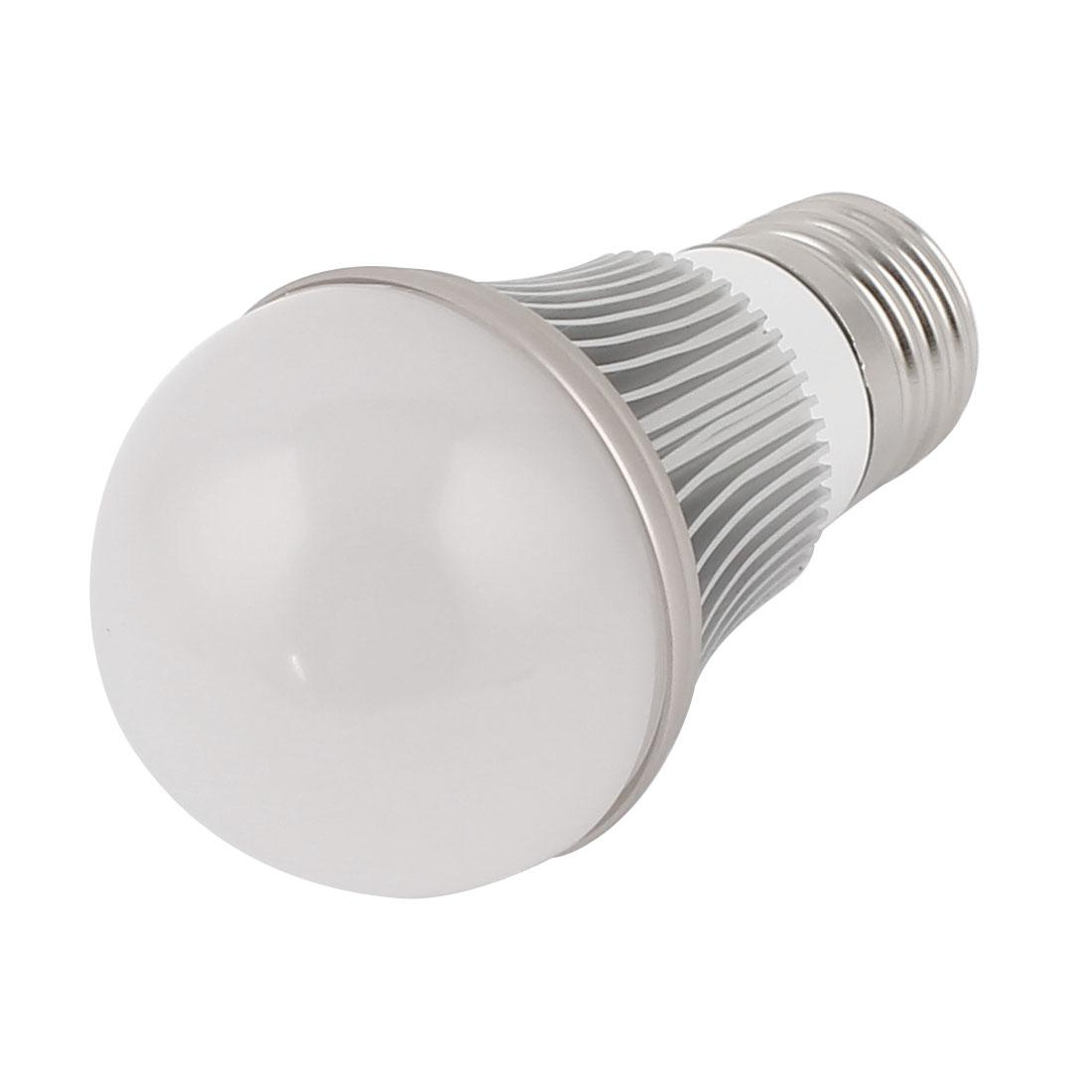 3W Silver Tone E27 50mm Dia Globe Ball Bulb Lamp Shell LED Aluminum Heatsink