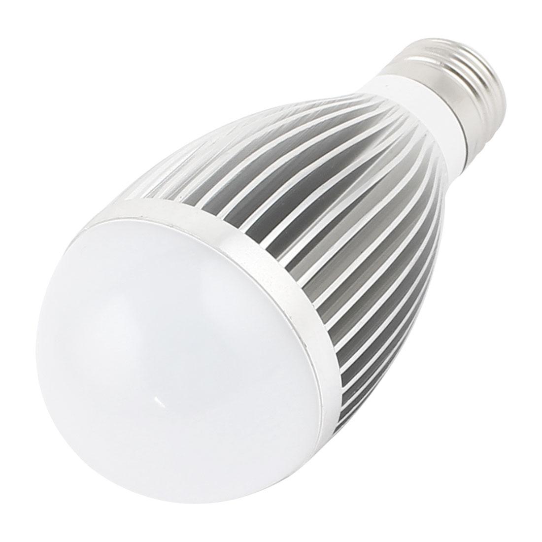 7W Silver Tone E27 58mm Dia Globe Ball Bulb Lamp Shell LED Aluminum Heatsink