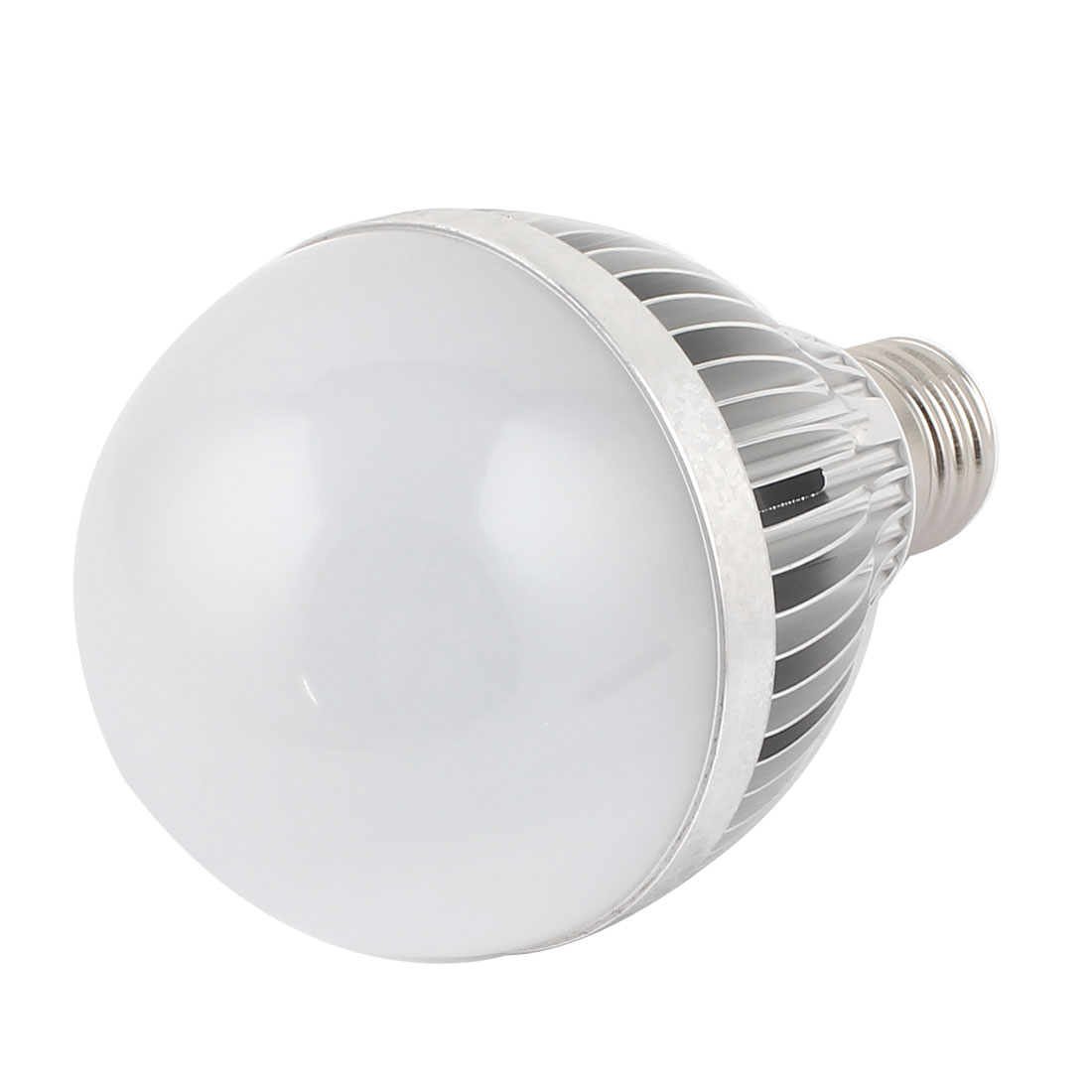 9W Silver Tone E27 80mm Dia Globe Ball Bulb Lamp Shell LED Aluminum Heatsink