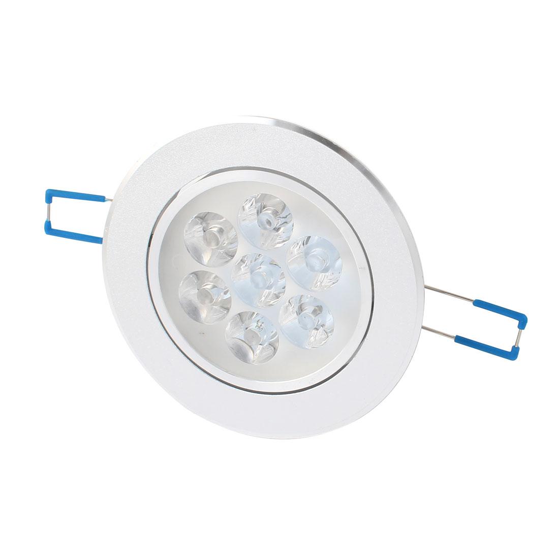 5W-7W Silver Tone 108mm Dia Ceiling Down Light Lamp Shell 7 LED Aluminum Heatsink
