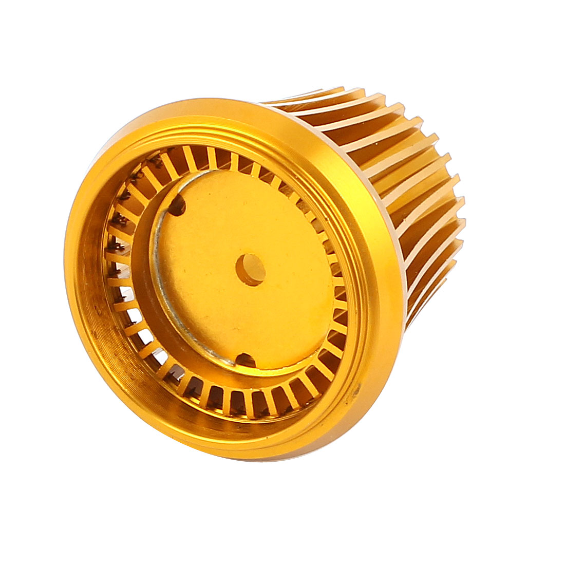 Heat Dissipation Gold Tone Aluminum Heatsink for LED Bulb Lamp Cooling