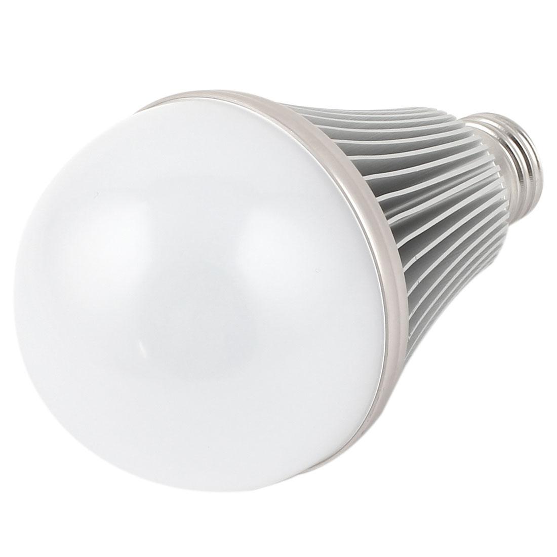 9W Silver Tone E27 75mm Dia Globe Ball Bulb Lamp Shell LED Aluminum Heatsink