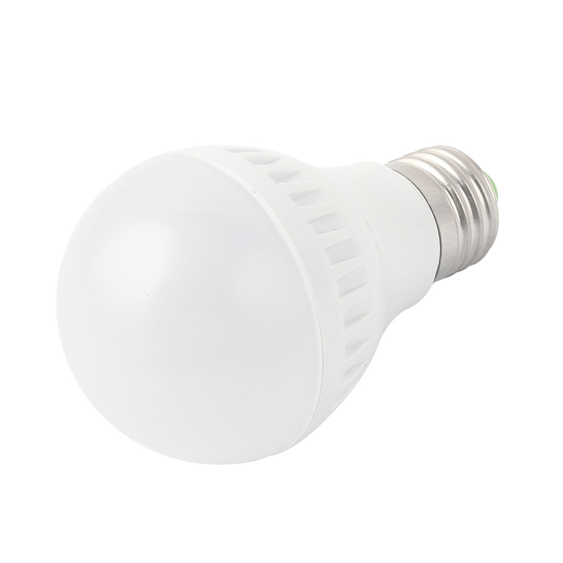 5W White Plastic E27 Base 60mm Dia Globe Ball Bulb LED Lamp Shell