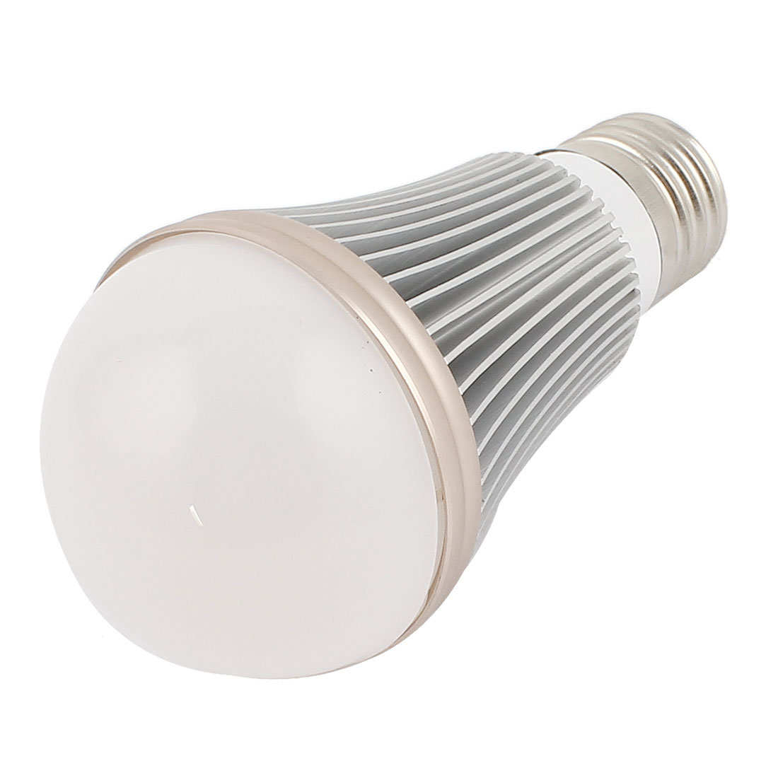 7W Silver Tone E27 60mm Dia Globe Ball Bulb Lamp Shell LED Aluminum Heatsink
