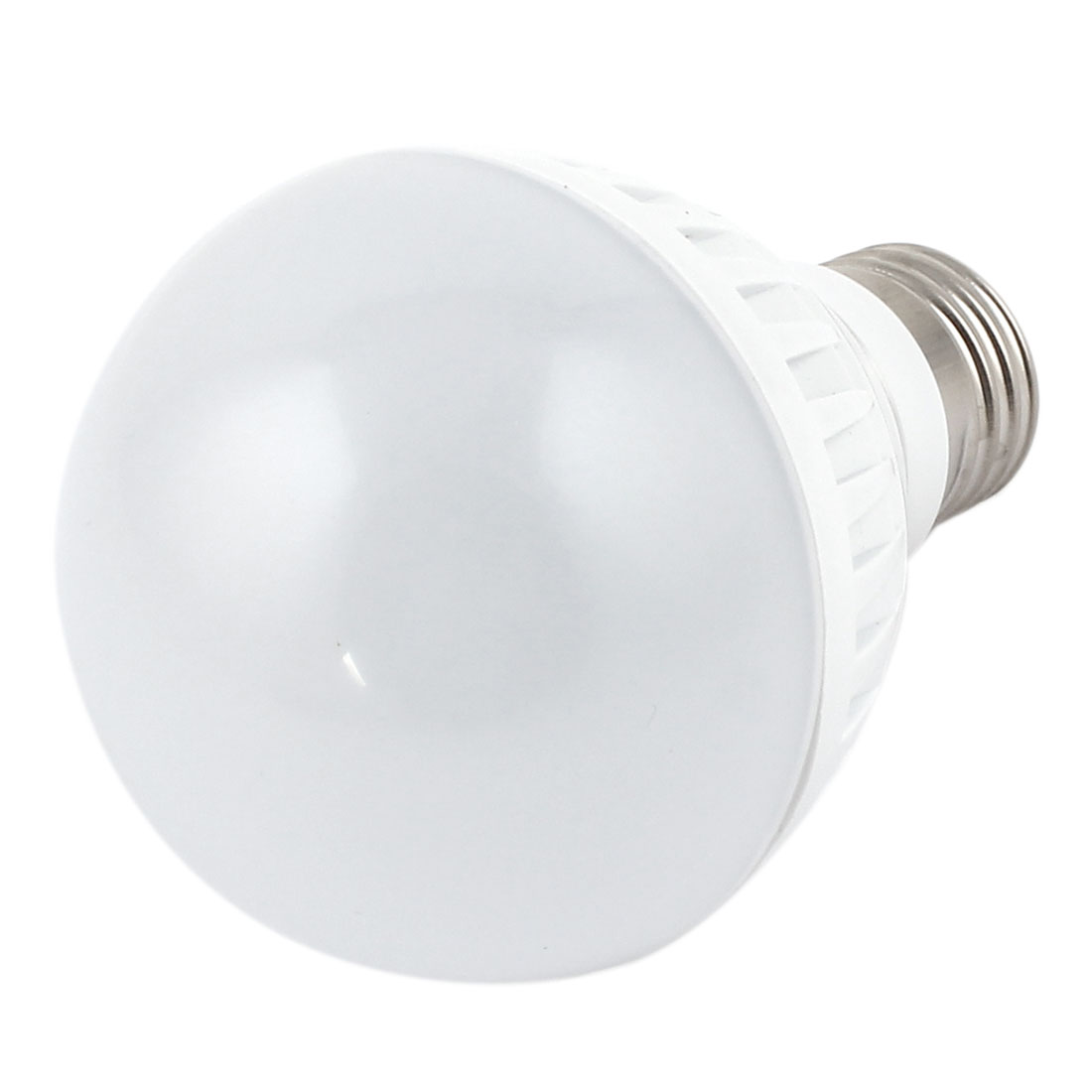 7W White Plastic E27 Base 70mm Dia Globe Ball Bulb LED Lamp Shell