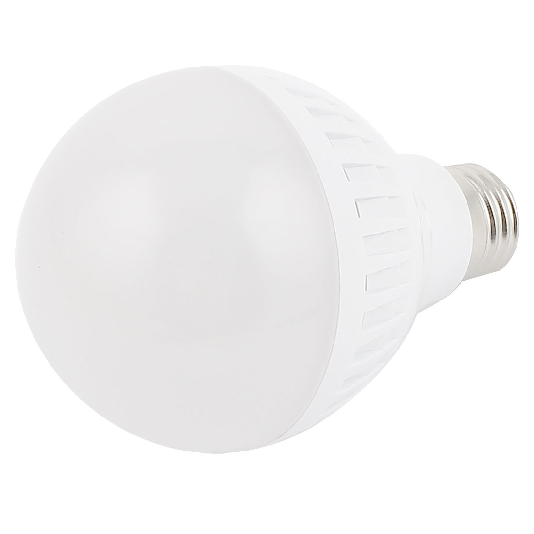 9W White Plastic E27 Base 80mm Dia Globe Ball Bulb LED Lamp Shell