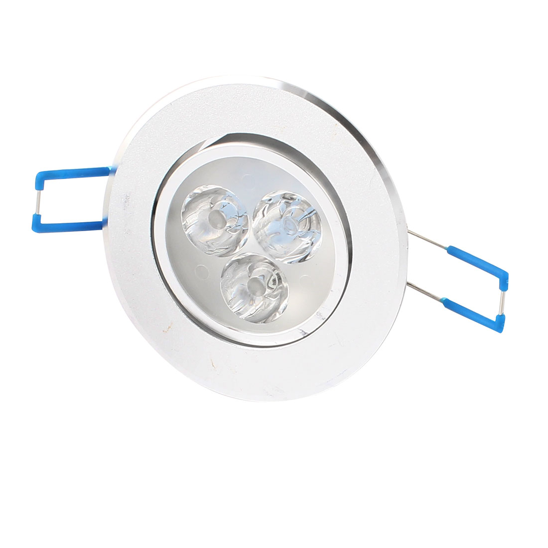 3W Silver Tone 85mm Dia Ceiling Down Light Lamp Shell 3 LED Aluminum Heatsink