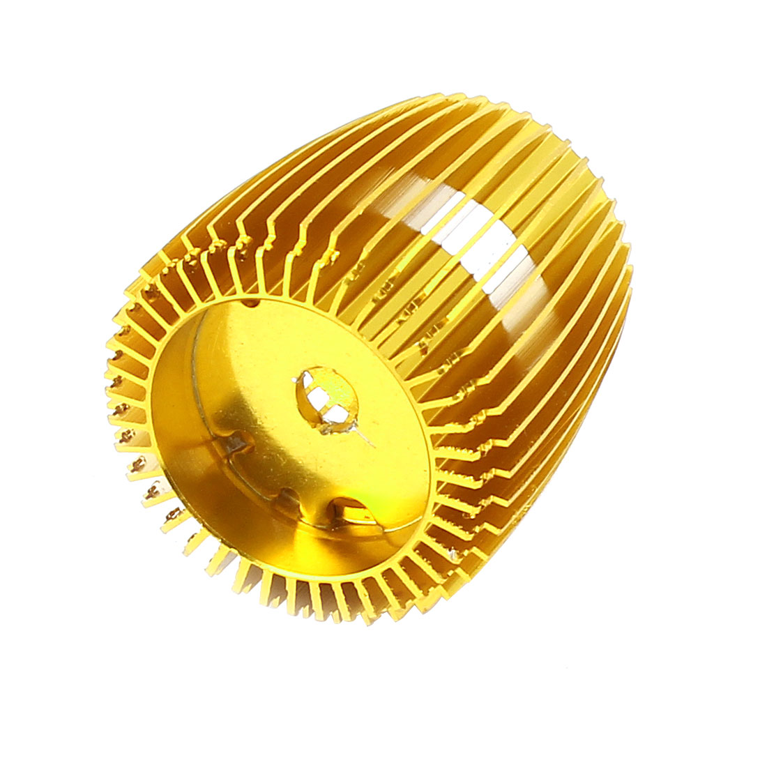 33mm Height LED Bulb Light Lamp Gold Tone Aluminum Heat Sink