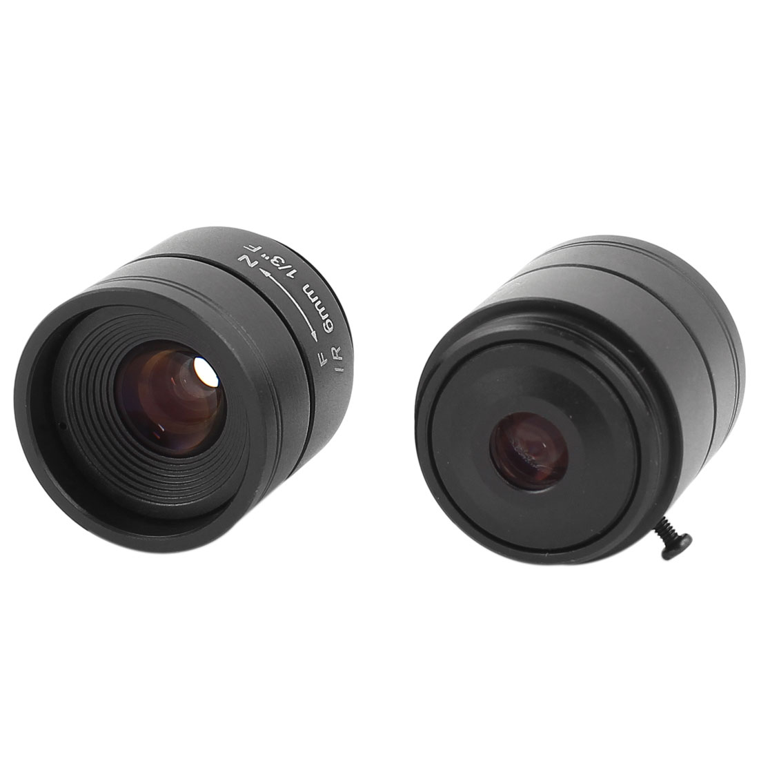 "2 Pcs 6mm F1.2 1/3"" CS Mount Fixed Iris Monofocal Lens for Security Camera"