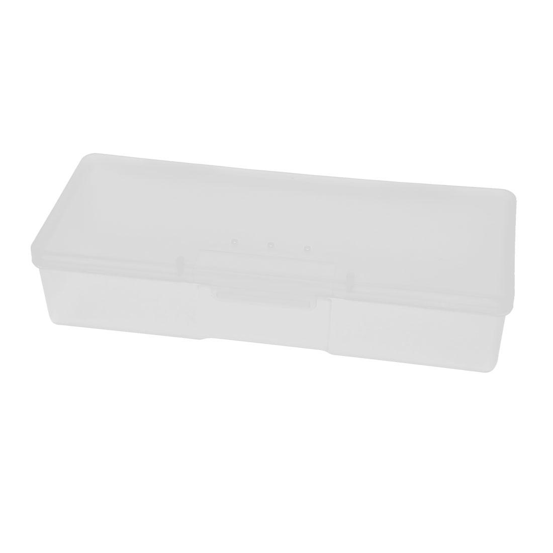 White Plastic Single Slot Comestics Aseptic Cotton Storage Case Box Container