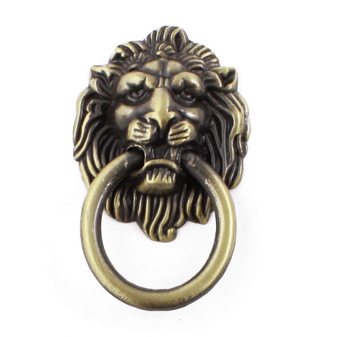 Bronze Tone Lion Head Shape Antique Style Cabinet Pull Handle Knob