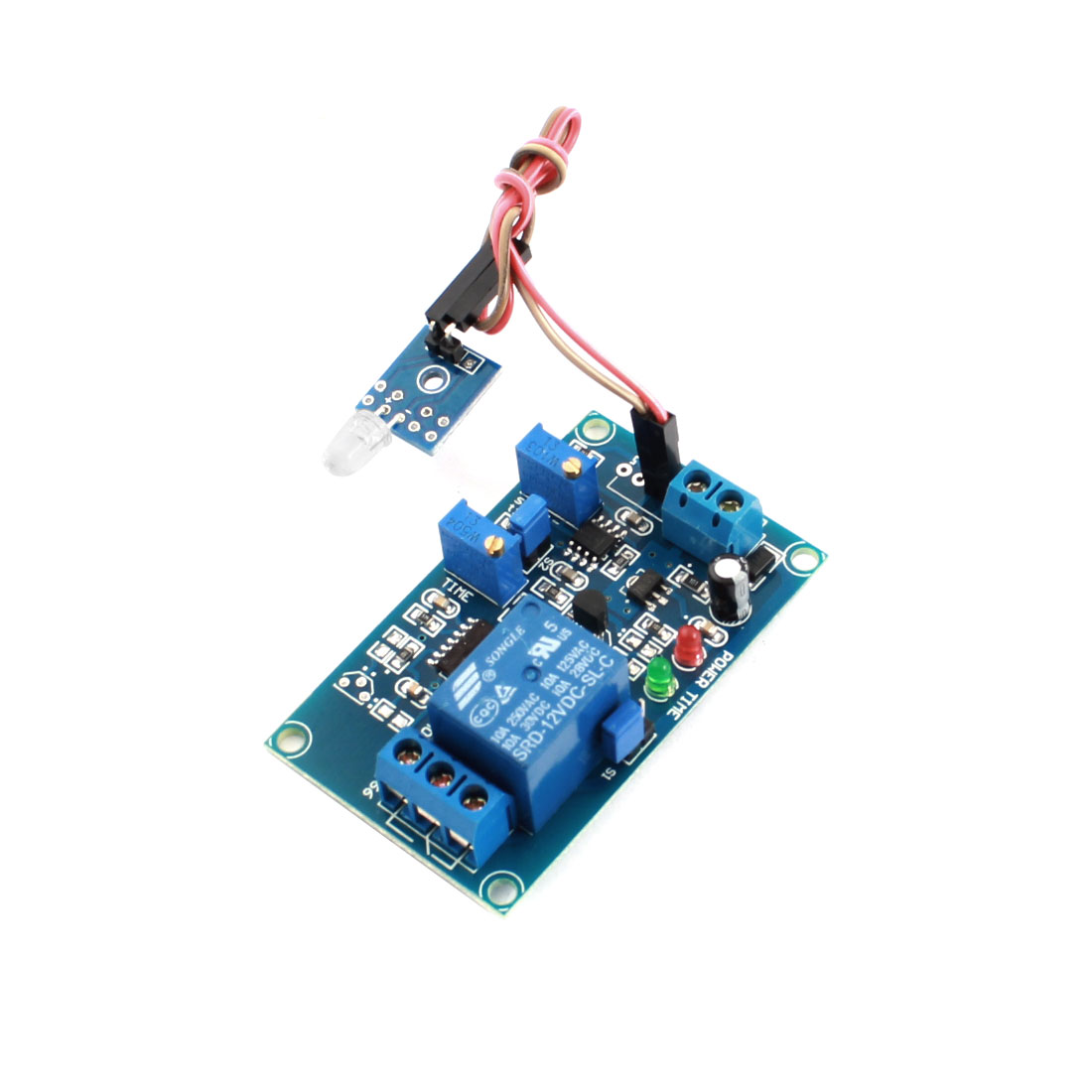 DC12V 0-20s 1 Channel Light Detection Photoswitch Photosensitive Diode Sensor Time Delay Relay Circuit Module