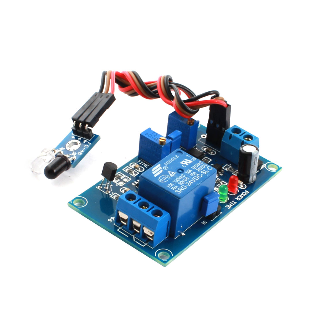 FC-66 DC 24V 0-20S 1CH Infrared Reflection Trigger Time Delay Circuit Relay Module