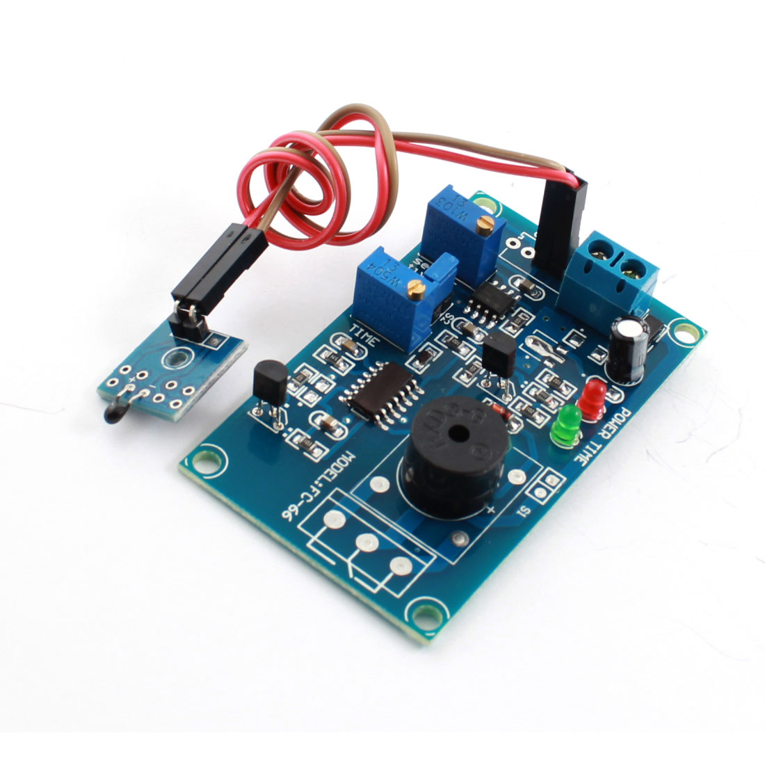 DC 5V 0-20S Low Temperature Trigger Pyroelectricity Alarm Buzzer Time Delay PCB Circuit Module Blue