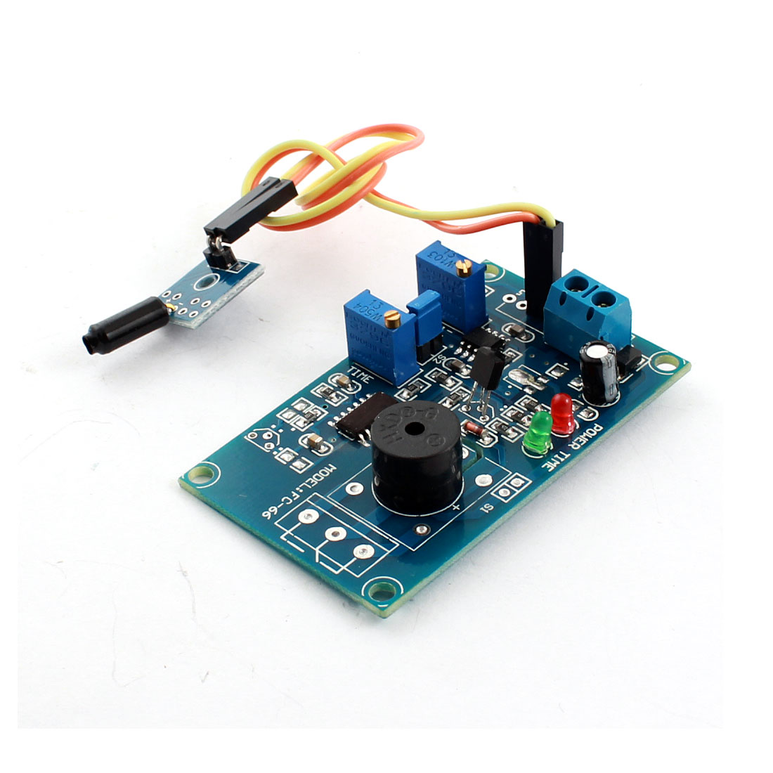 DC 5V Normally Open Viberation Viberating Alarm Buzzer Time Delay Module Blue