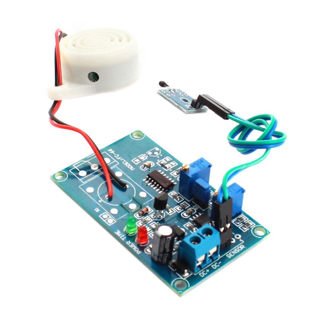 FC-66 DC 24V 0-20S High Temperature Trigger Thermal Detect Delay Alarm Buzzer Module Green