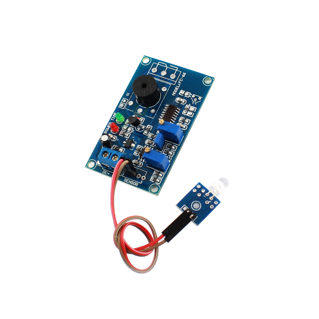 FC-66 DC 12V 20S Light Sensitivity Trigger Photosensitive Diode Sensor Delay Alarm Buzzer PCB Circuit Module