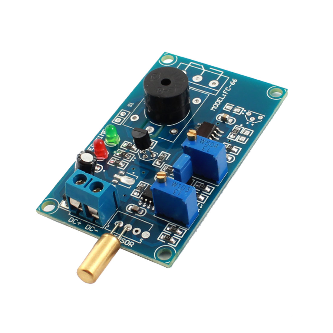 DC5V 0-20s Angular Transducer Dumping Angle Sensor Inclination Time Delay Alarm Buzzer Module