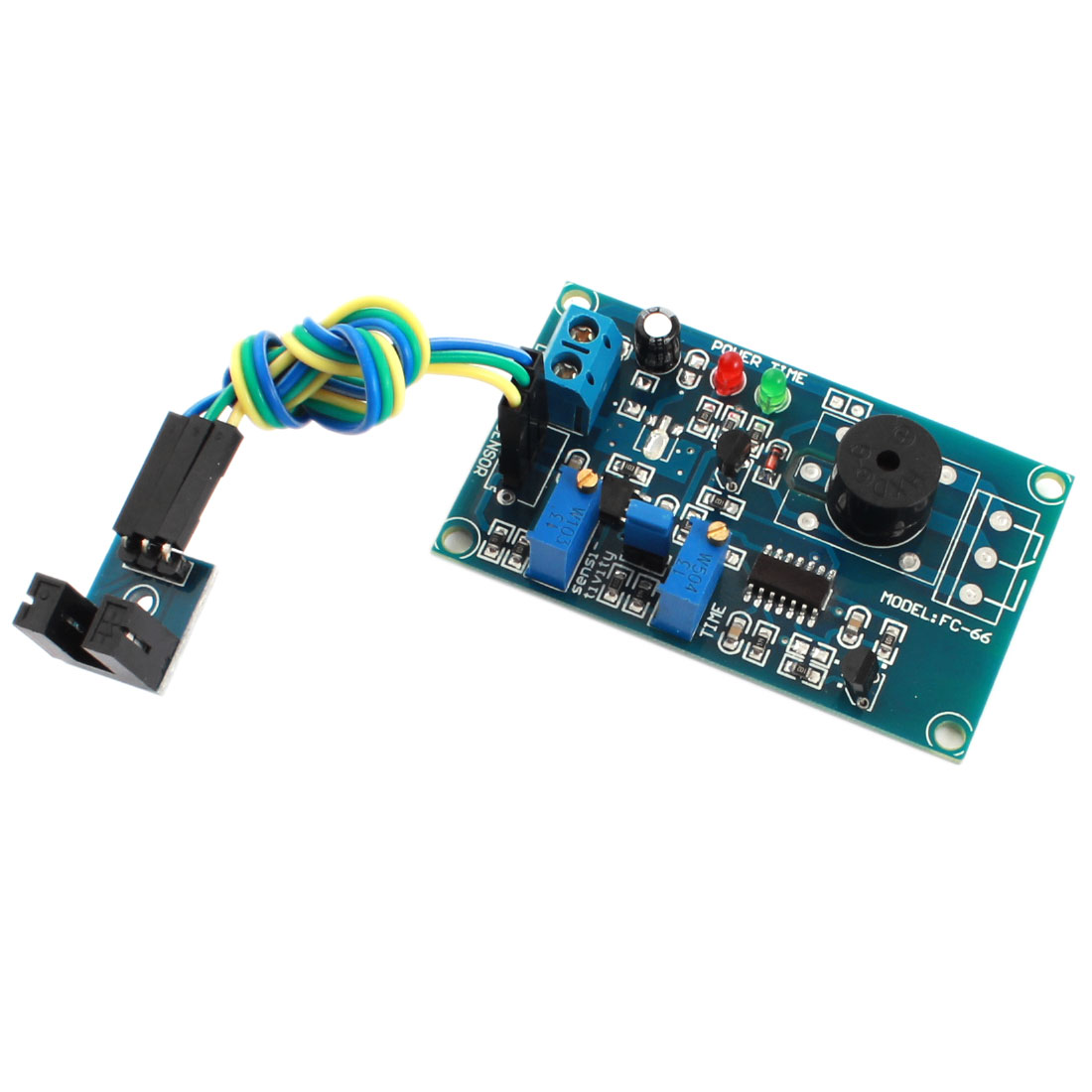 FC-66 DC5V 0-20S Adjustable Groove Type Light Detection Optocoupler Sensor Alarm Buzzer Delay PCB Circuit Module