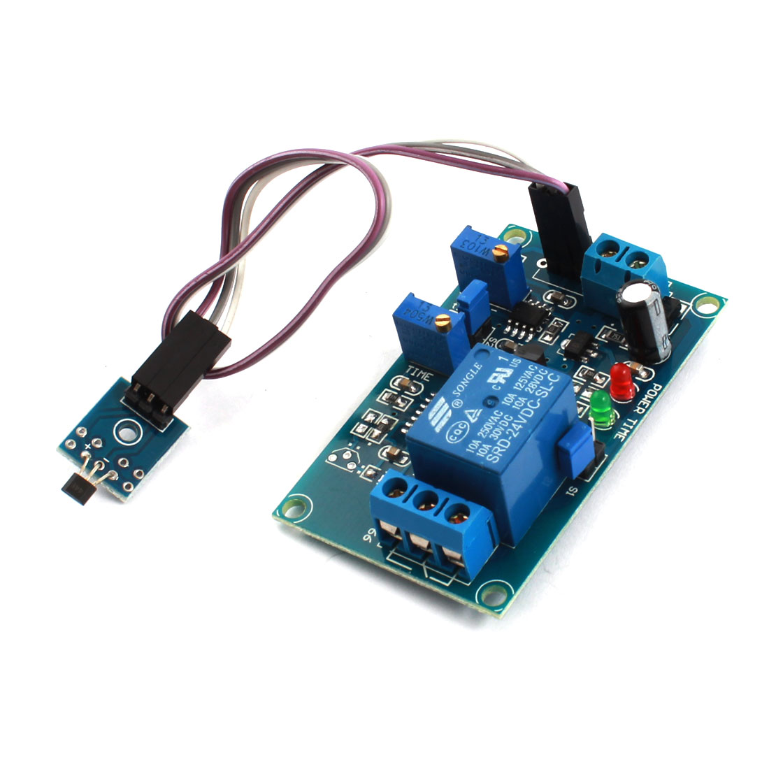 DC24V 1 Channel Hall Effect Sensor Switch Megnetic Inducting Trigger Time Delay Relay Module