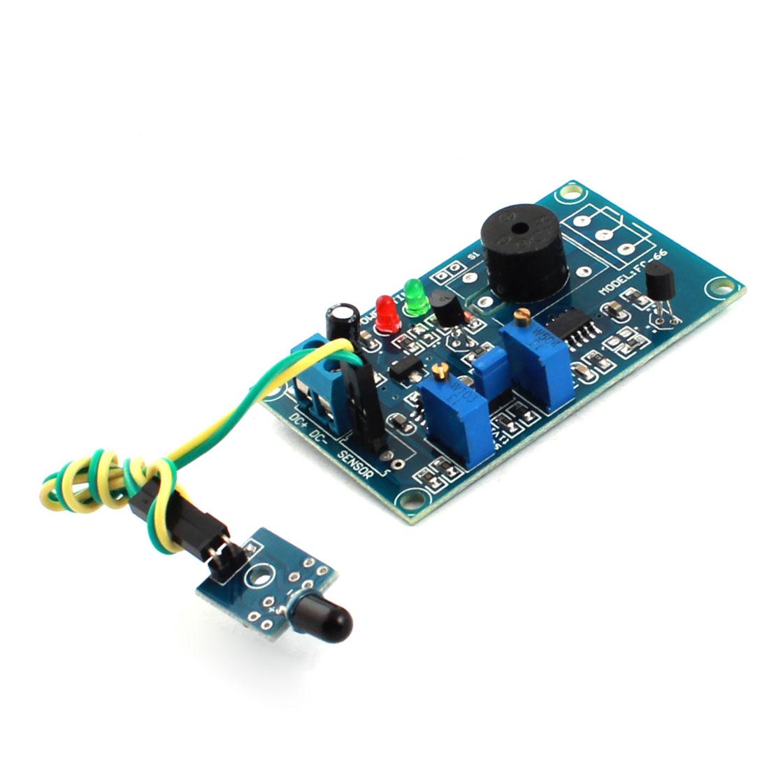FC-66 DC 12V 0-20s Time Sensor Infrared Receiver Alarm Buzzer Delay PCB Module