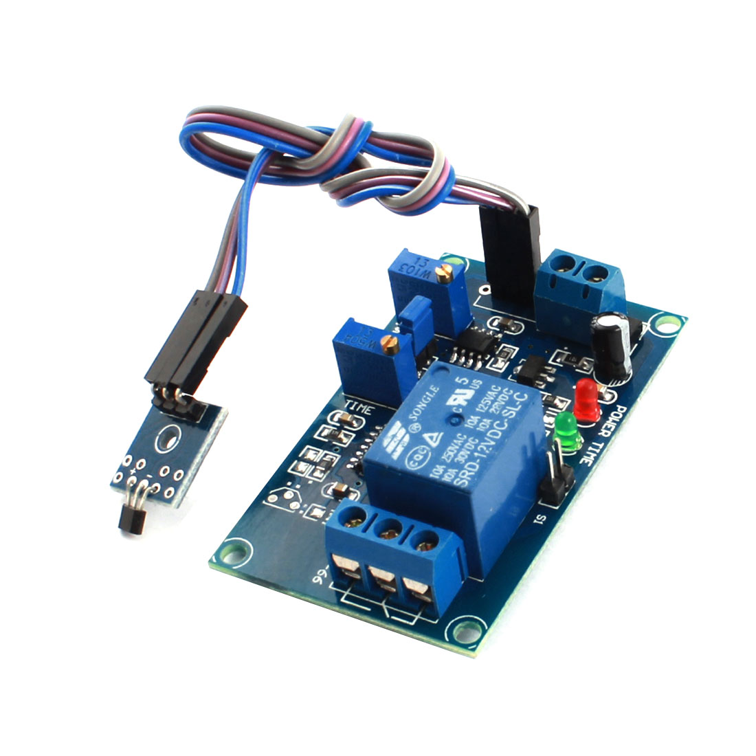 DC12V 1 Channel Hall Effect Sensor Switch Megnetic Inducting Trigger Time Delay Relay Module