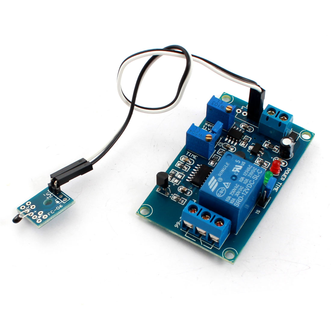 DC12V 0-20s Low Temperature Trigger Thermosensitive Time Delay PCB Board Relay Module Blue