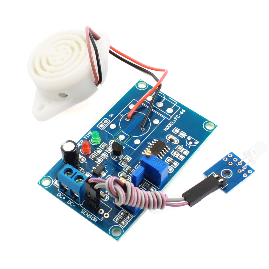 FC-66 DC 24V Photosensitive Diode Photoelectric Sensor Alarm Buzzer Time Delay Module Green