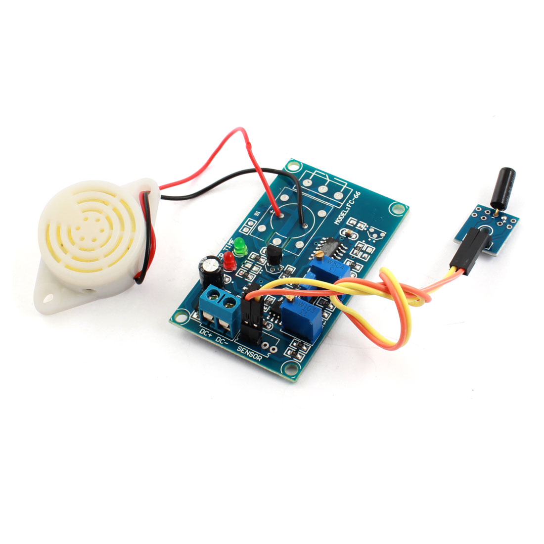 DC 24V Normally Open Viberation Viberating Alarm Buzzer Time Delay Module Blue