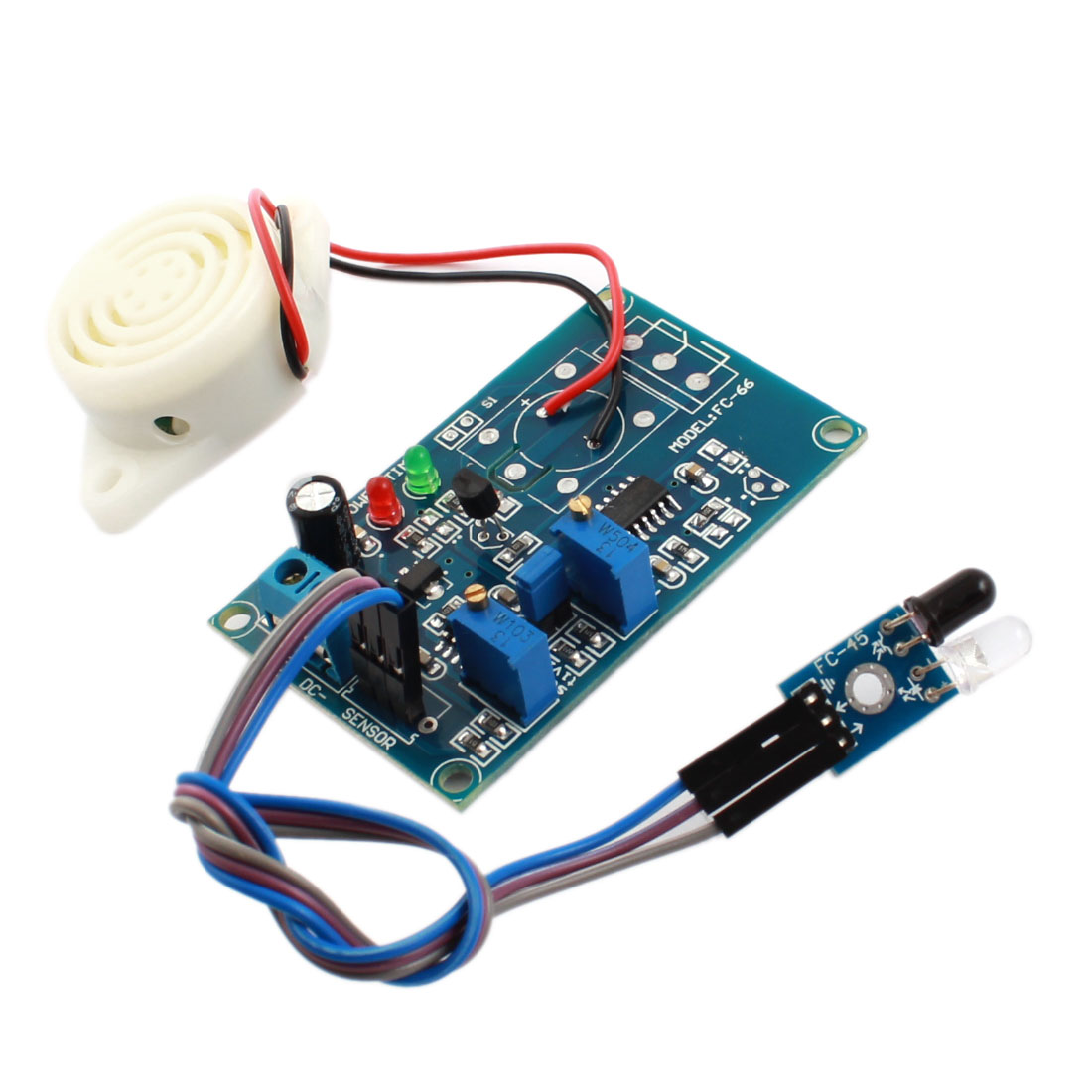 FC-66 DC 24V 0-20S Infrared Reflection Detection Sensor Alarm Buzzer Alarm Buzzer Time Delay Module